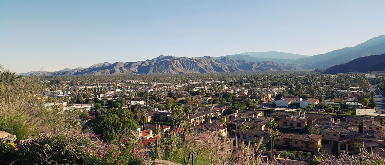 palm springs valley view