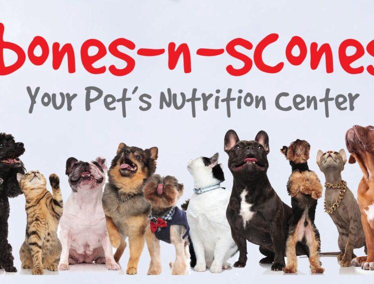 Bones n scones logo with dogs