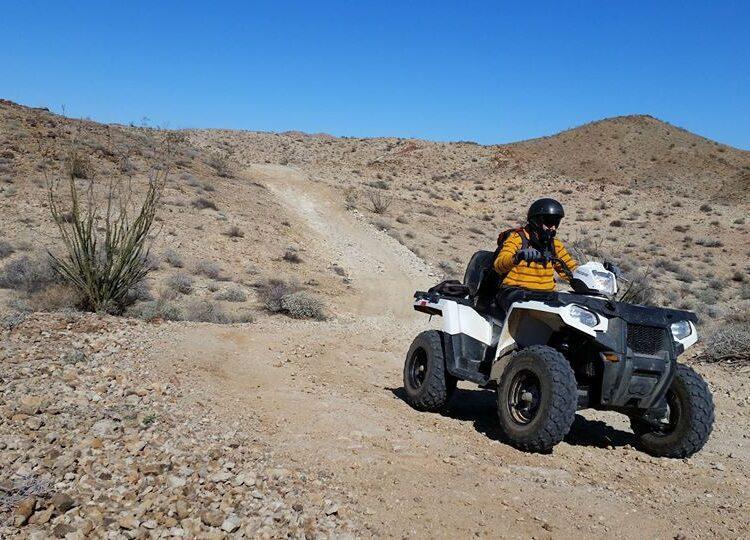 person riding ATV