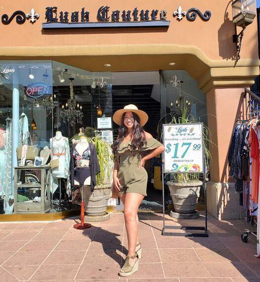 shopper outside store