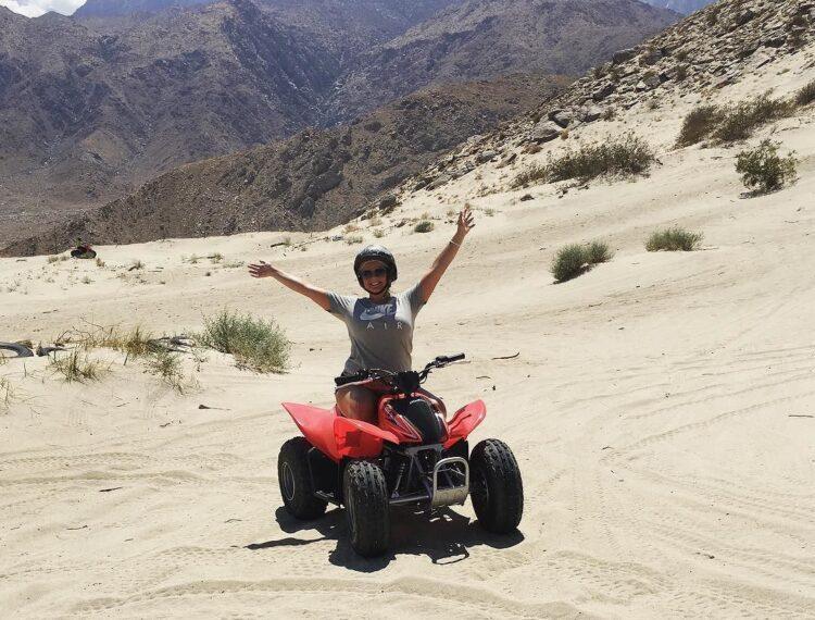 person on an ATV