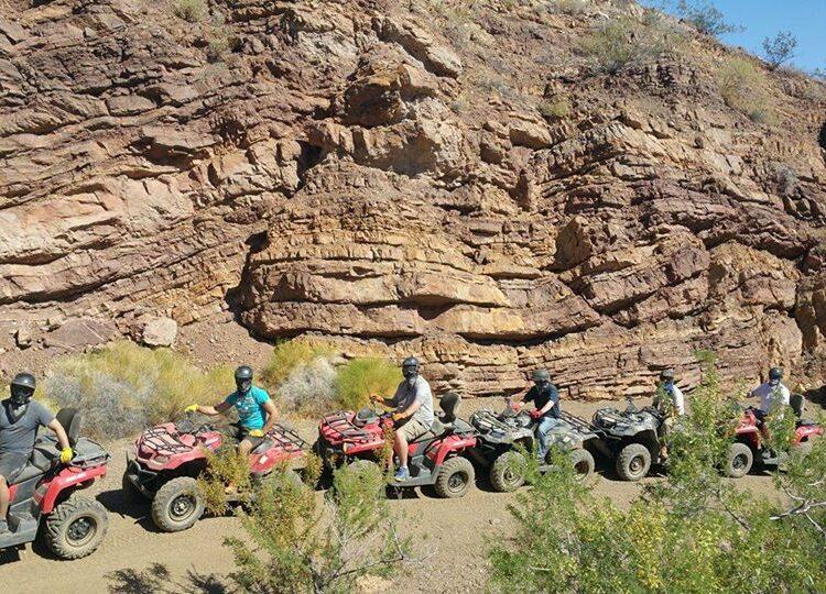 group tour on ATVs