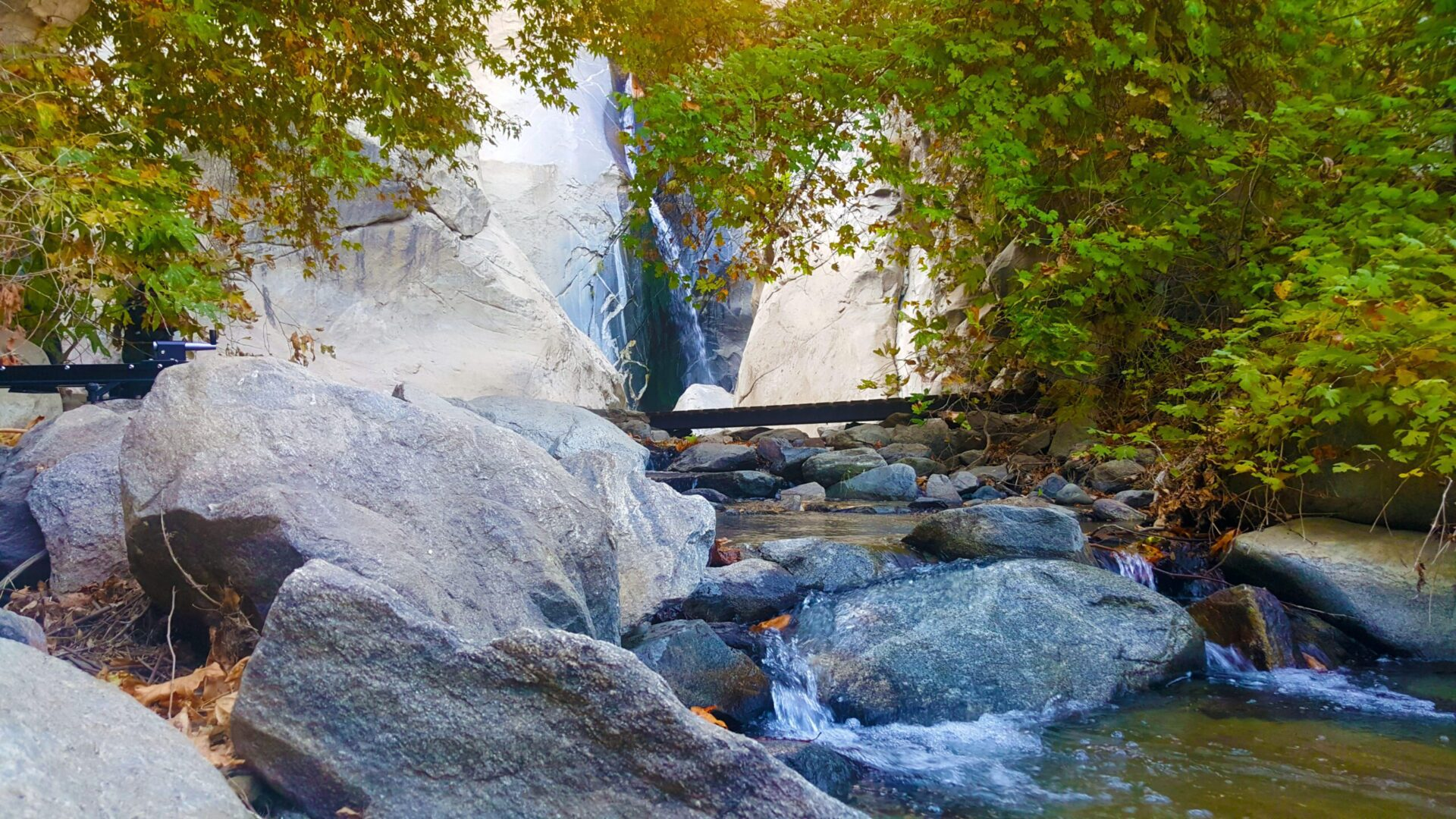 water running in Tahquitz Canyon