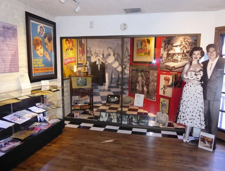 exhibit in museum