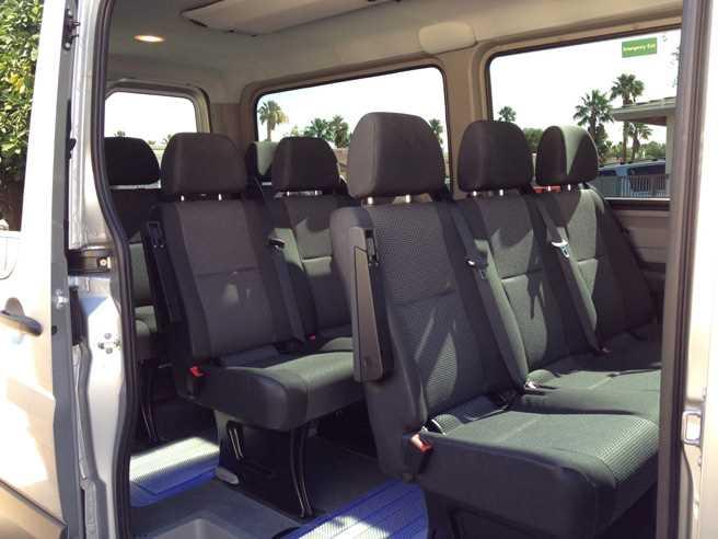 inside tour van