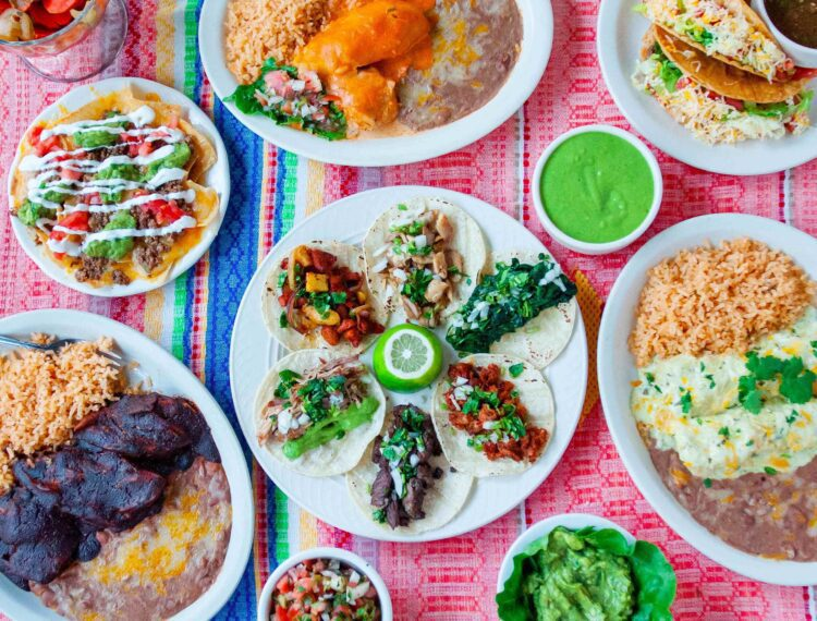 Mexican food dishes