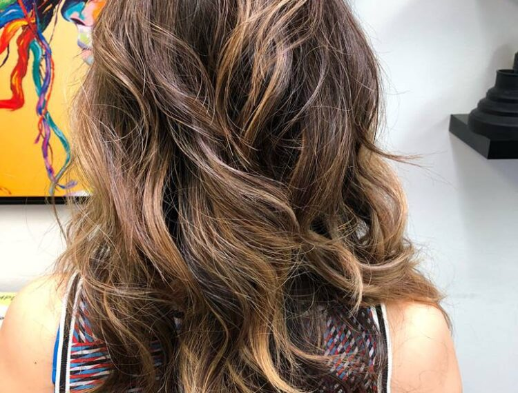 back of woman's hair