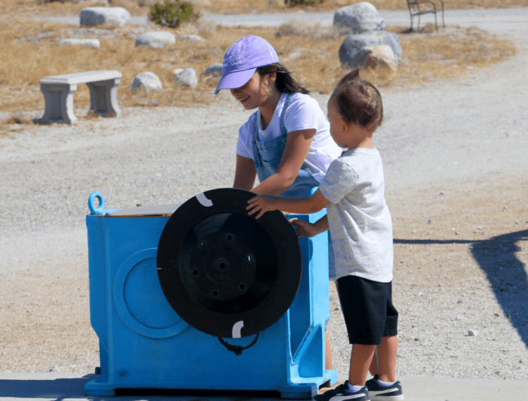 kids on windmill tour