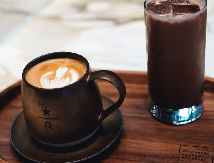 two specialty coffees