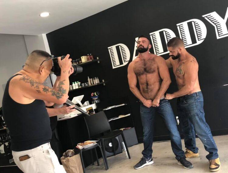 men inside Daddys barber shop