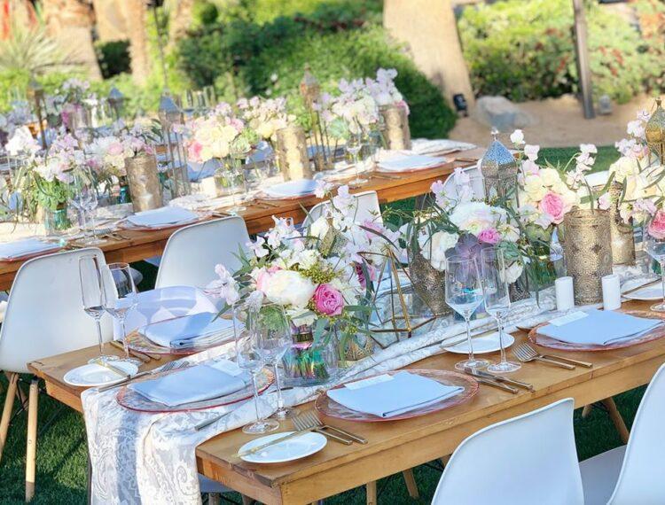 floral arrangements at event