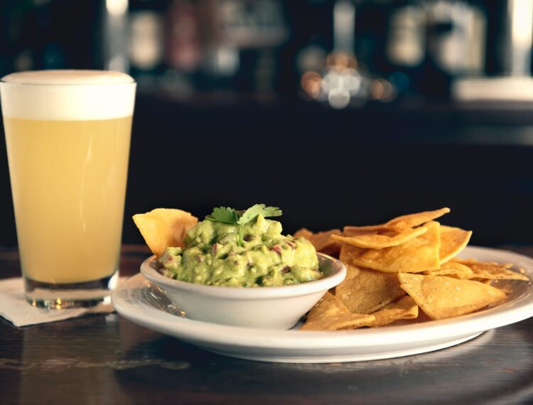 chips, guac and a beer