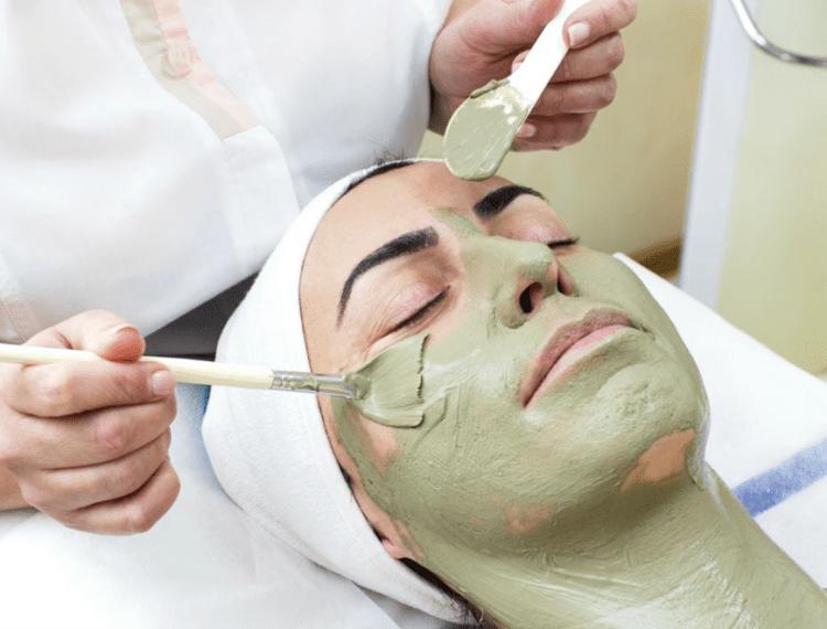 person receiving facial
