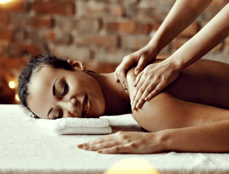 person getting massage