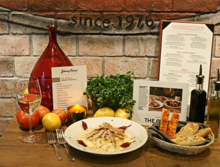 Johnny Costa's Ristorante display of food