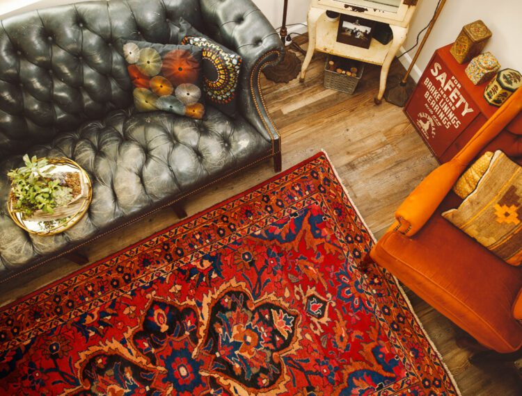 rugs and furniture