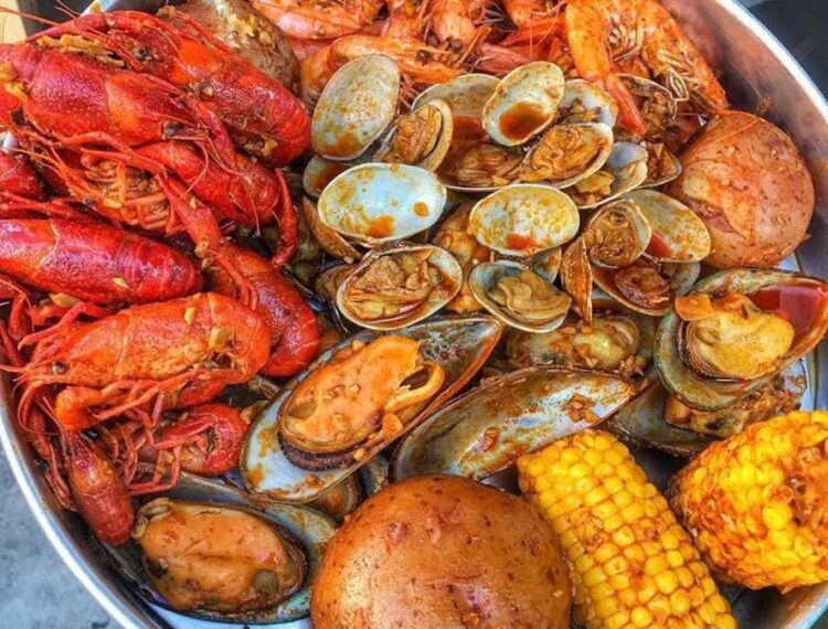 tray of seafood