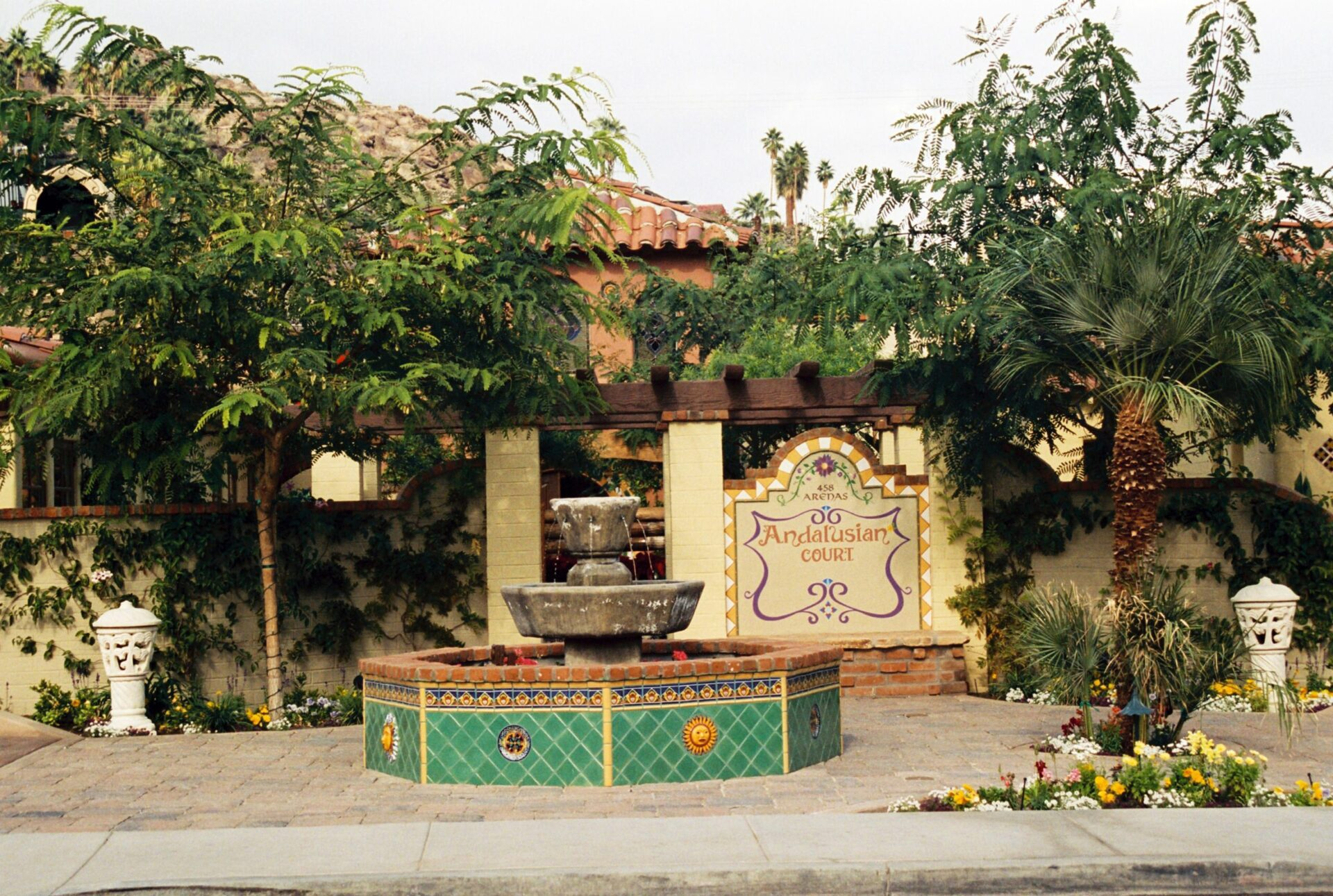Andalusian Court palm springs entry
