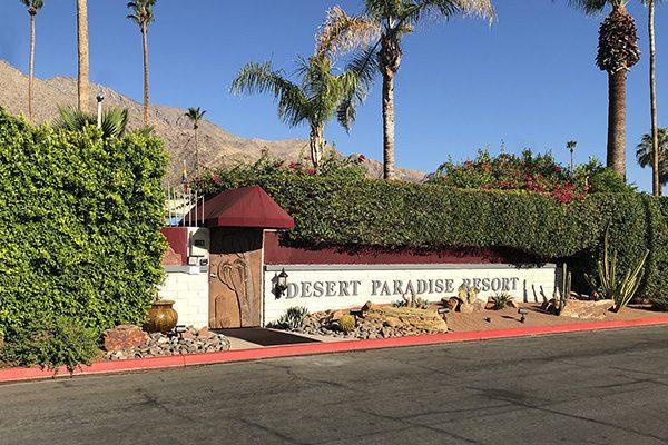 Desert Paradise front entrance