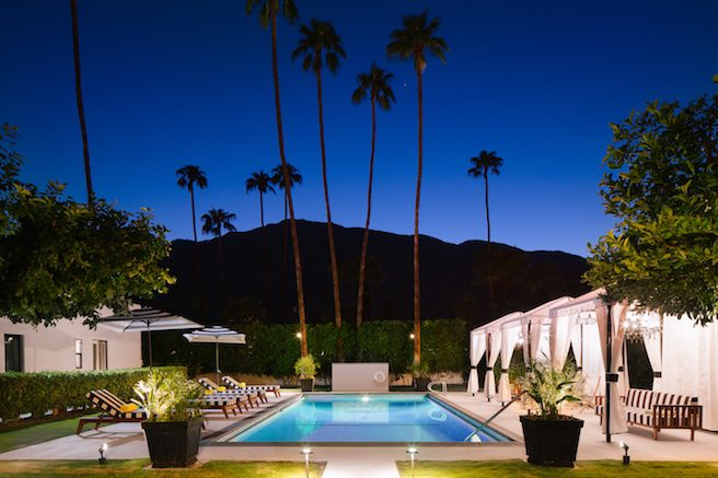 Hotel El Cid pool at night