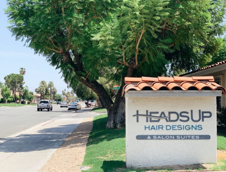 heads up hair design sign