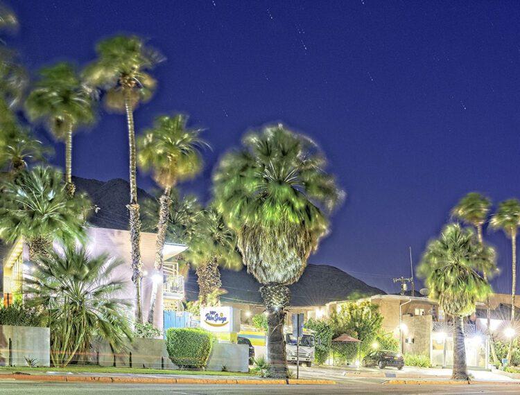 Inn at Palm Springs exterior at night