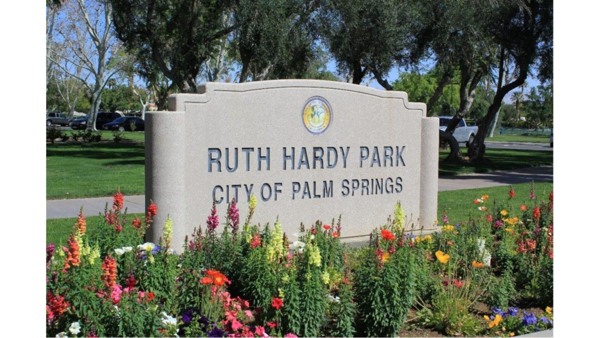 Ruth Hardy Park sign