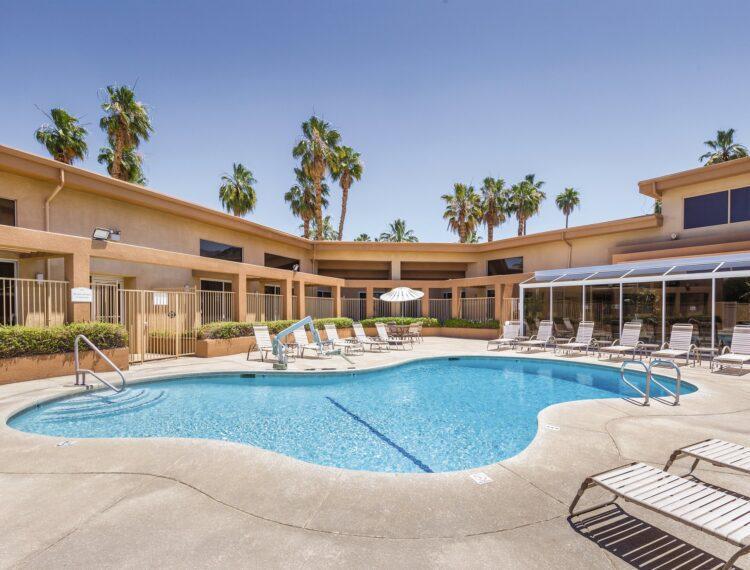 The Plaza Resort & Spa pool area