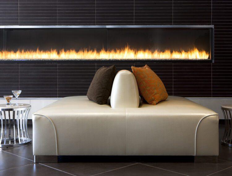 indoor fireplace at hyatt