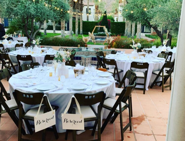 dining tables outdoors