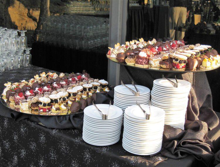 desserts on display