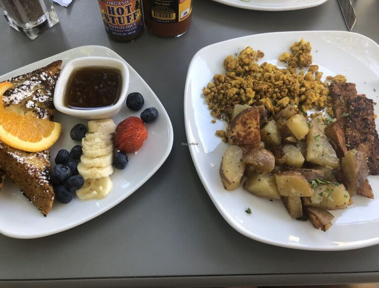 two plates of food