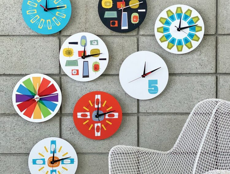 various clocks on the wall
