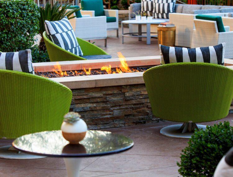 Renaissance Palm Springs Hotel fire pit