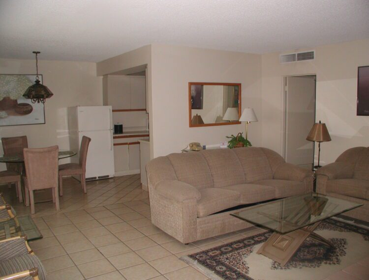 Interior of one bedroom suite