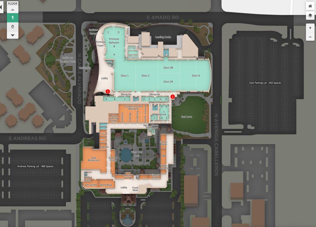 3d Map convention center