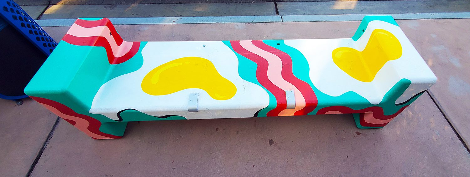 Palm Springs colorful bench