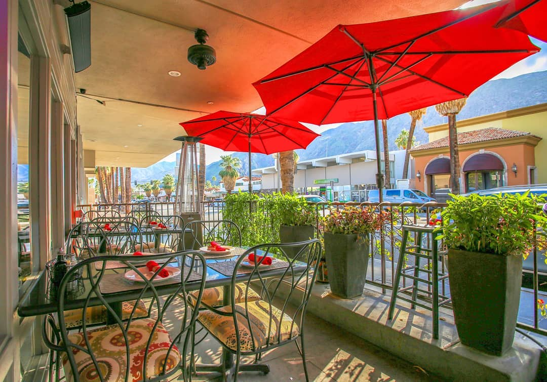 Thai Smile palm springs patio