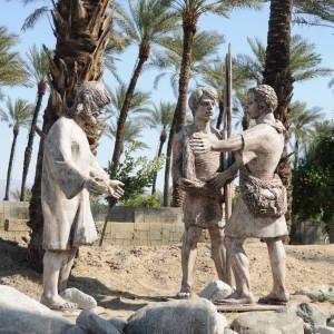 statues in date garden