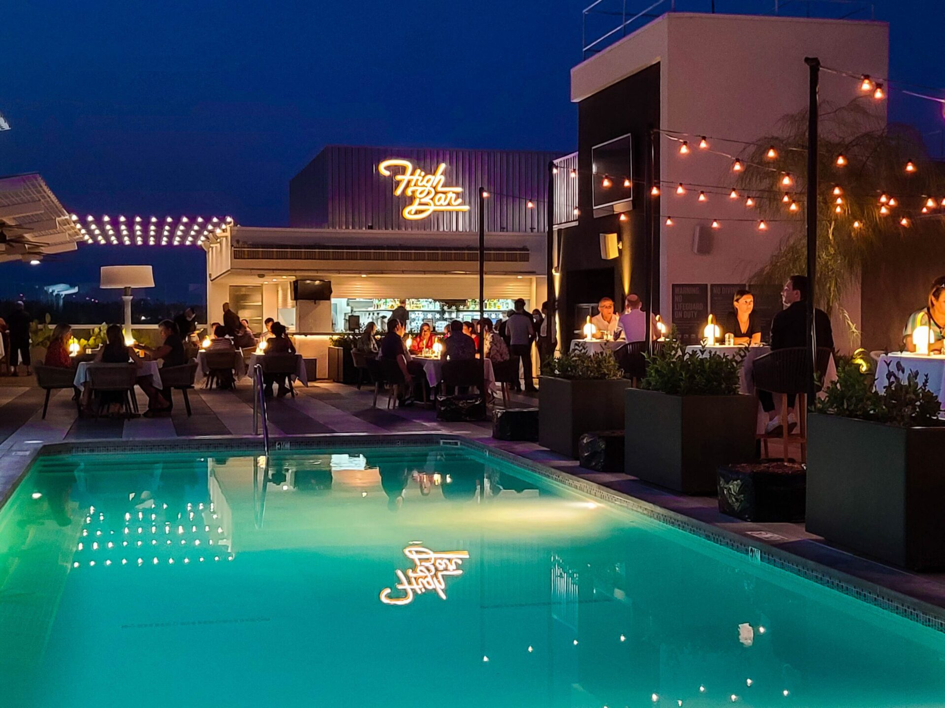 High Bar at the Kimpton Hotel in Palm Springs