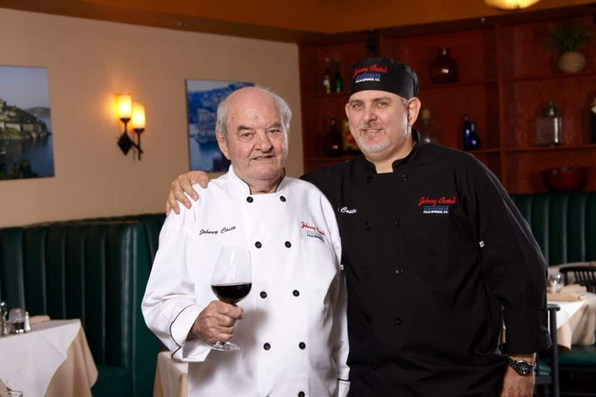 chef johnny costa and son in palm springs