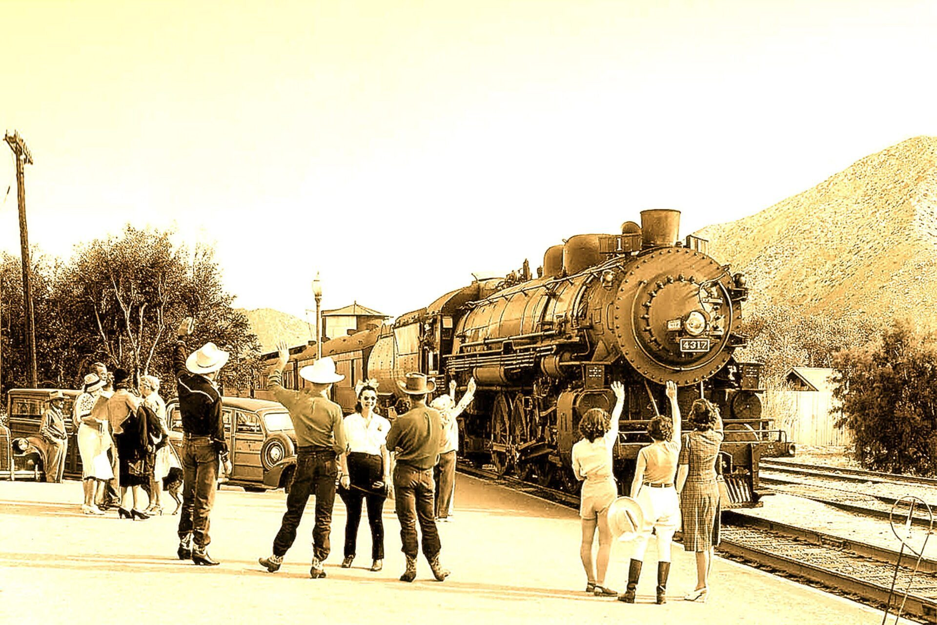 palm springs railroad arriving in 1940