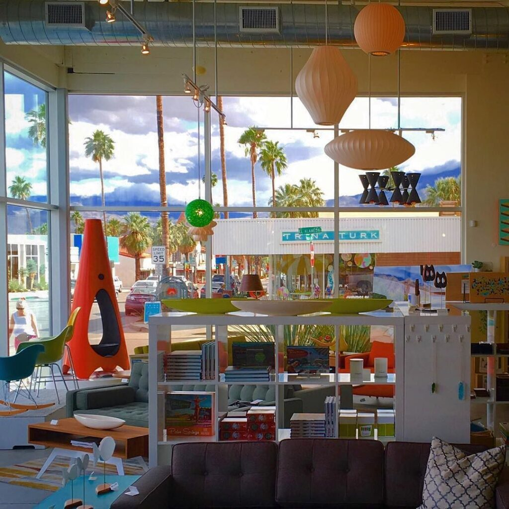 Inside store in Palm Springs