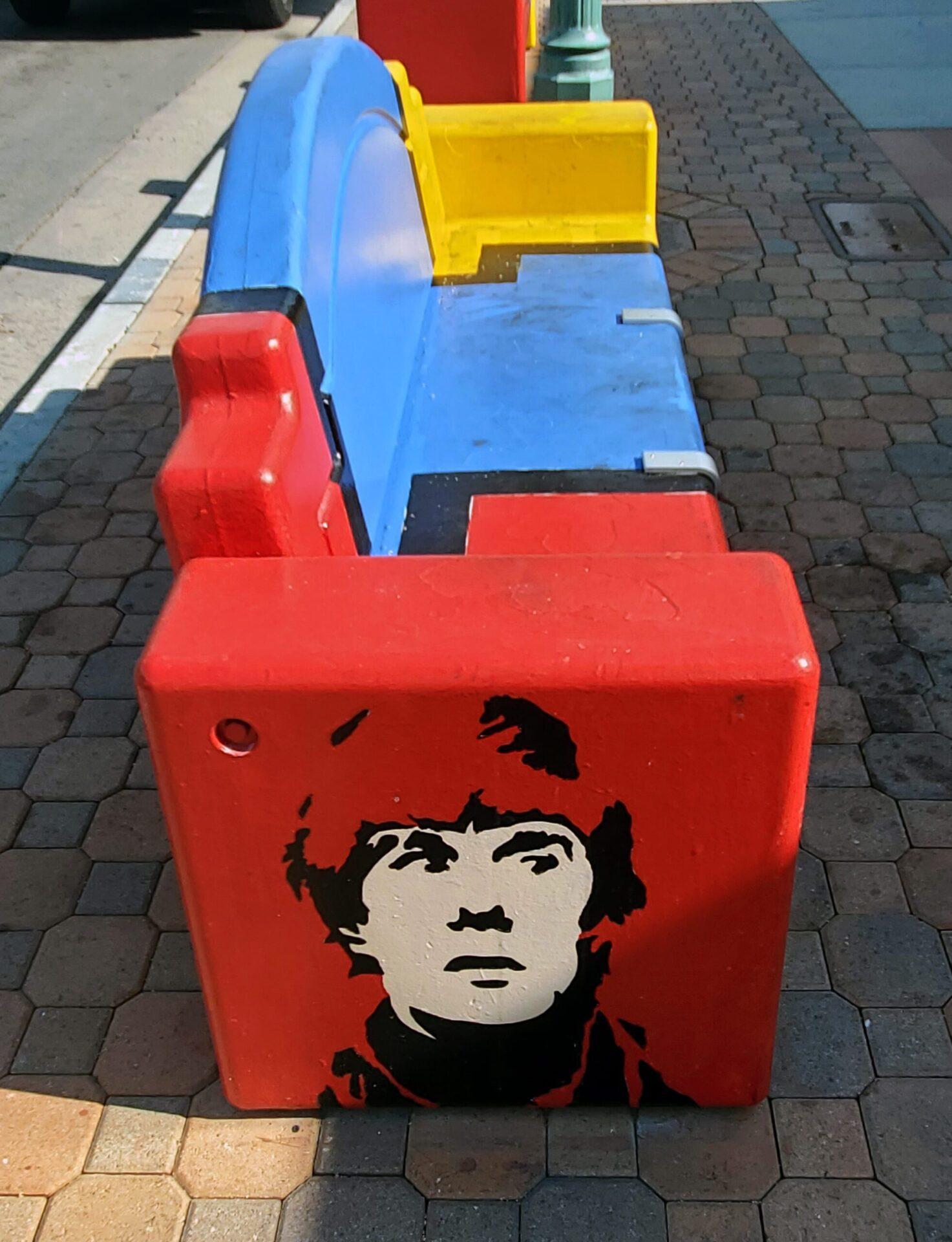 Artist Tysen Knight of Palm Springs bench