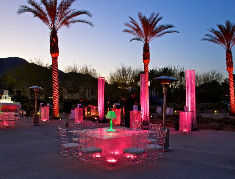 Jackie Lee Houston Plaza lit up