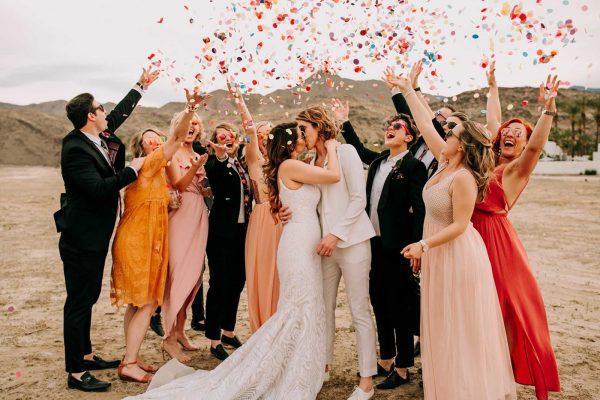 Lesbian wedding in Palm Springs