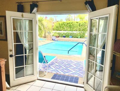 View of pool from guestroom