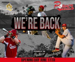 Palm Springs Power Baseball flyer