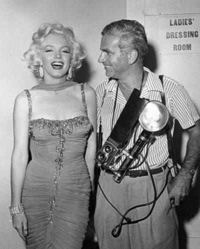 Bruno Bernard with Marilyn Monroe