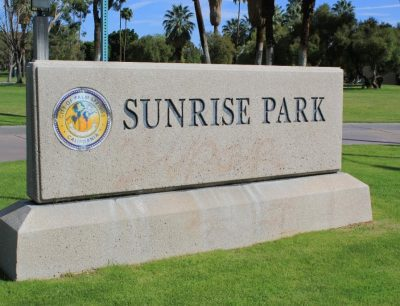 Sunrise Park sign